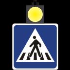 MS10204 Dvostranstranski znak 900x900 brez luči in z zgornjim dvostranskim utripalcem D=300