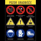 MS10731 Gradbiščna opozorilna tabla