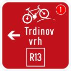 3406-1 Kažipot za kolesarje