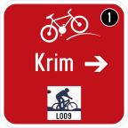 3406-2 Kažipot za kolesarje