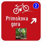 3406-4 Kažipot za kolesarje