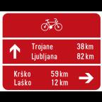 3404-1 Kažipotna tabla za kolesarje