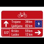 3404 Kažipotna tabla za kolesarje