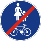 2316 Konec površine za promet pešcev in kolesarjev