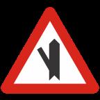 1104-2 Križišče s priključkom neprednostne ceste na prednostno pod ostrim kotom
