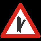 1104-3 Križišče s priključkom neprednostne ceste na prednostno pod ostrim kotom