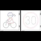 MS11541 Led prikazovalnik Kolesarja, U015, 550x550