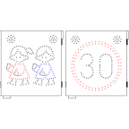 MS11540 Led prikazovalnik otroka, U014-1, 550x600, z utripallem