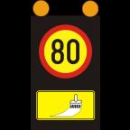7204-1 Mobilna signalna tabla s spremenljivo vsebino
