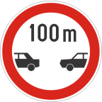 2225 Najmanjša razdalja med vozili