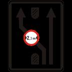2409-4 Omejitve in prepovedi na prometnem pasu