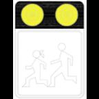 7205-1 Poudarjen prometni znak z opozorilnimi lučmi