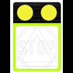 7205 Poudarjen prometni znak z opozorilnimi lučmi