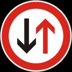 2105 Prednost vozil iz nasprotne smeri