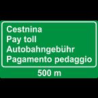 3421 Predznak za plačilo cestnine