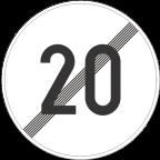 2233-2 Prenehanje omejitve hitrosti