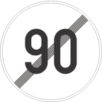 2233-9 Prenehanje omejitve hitrosti