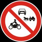 2216 Prepovedan promet za določene vrste vozil oziroma določene udeležence cestnega prometa