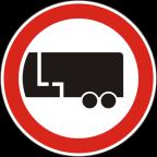 2209 Prepovedan promet za motorna vozila s priklopnim vozilom