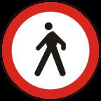 2214 Prepovedan promet za pešce