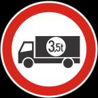 2207-1 Prepovedan promet za tovorna vozila ali skupine vozil