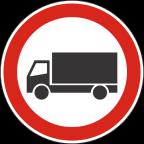 2207 Prepovedan promet za tovorna vozila ali skupine vozil