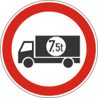 2207-2 Prepovedan promet za tovorna vozila ali skupine vozil