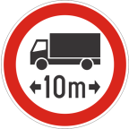 2224 Prepovedan promet za vozila ali skupine vozil, ki presegajo določeno skupno dolžino