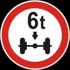 2223 Prepovedan promet za vozila, katerih osna obremenitev je večja od določene obremenitve