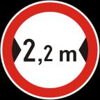 2220 Prepovedan promet za vozila, katerih skupna širina presega določeno širino