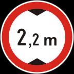 2221 Prepovedan promet za vozila, katerih skupna višina presega določeno višino