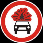 2219 Prepovedan promet za vozila, katerih tovor vsebuje eksplozivne ali lahko vnetljive snovi