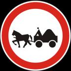 2213 Prepovedan promet za vprežna vozila oziroma jahače, goniče in vodiče živali