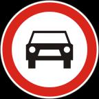 2203 Prepovedan promet za vsa motorna vozila, razen za enosledna