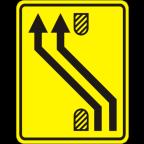 3305-2-R Preusmeritev prometa na drugo smerno vozišče