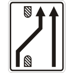 3305-5 Preusmeritev prometa na drugo smerno vozišče