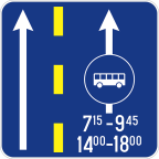 2411-1 Prometni pas za vozila javnega prevoza potnikov