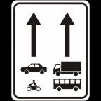 2408 Prometni pasovi, namenjeni določeni vrsti vozil