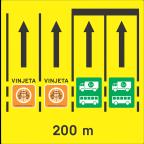 3302 Razvrščanje vozil na območju cestninske postaje