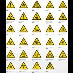 MS10736 Varnostni znak EN ISO 1070 tipa W