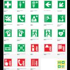 MS10734 Varnostni znaki EN ISO 7010 tipa E, F in R
