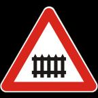 1201 Zavarovan prehod ceste čez železniško progo