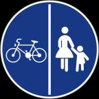 2313 Znak se lahko postavlja tudi samo na levi strani steze.