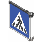 MS10268 Znak z notranjo osvetlitvijo PZ2431, 900x900, dvostranski, SV, brez svetlobnih utripalnikov