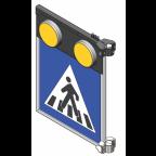 MS10278 Znak z notranjo osvetlitvijo PZ2431, 900x900, dvostranski, SV, s svetlobnimi utripalniki