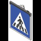 MS10262 Znak z notranjo osvetlitvijo PZ2431, 900x900, enostranski, HV, brez svetlobnih utripalnikov