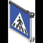 MS10264 Znak z notranjo osvetlitvijo PZ2431, 900x900, enostranski, SV, brez svetlobnih utripalnikov